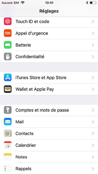 Configurer un compte exchange sur iphone
