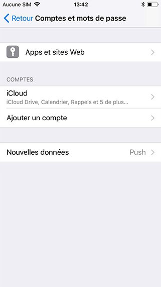 Configuration compte exchange sur iPhone 1