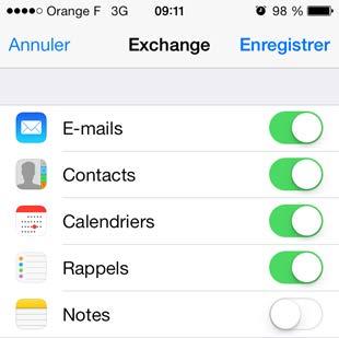 Exchange account configuration on iPhone 4