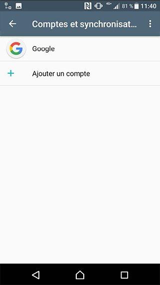 Configuration compte exchange sur Android 1