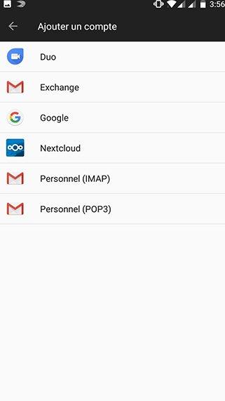 Configuration compte exchange sur Android 2