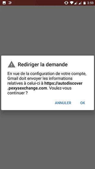 Configuration compte exchange sur Android 5