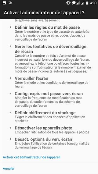 Configuration compte exchange sur Android 8