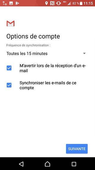 Configuration compte Exchange POP/SMTP sur Android 10