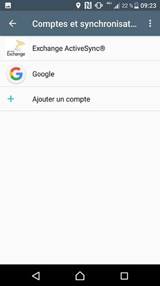Configuration compte Exchange POP/SMTP sur Android 1