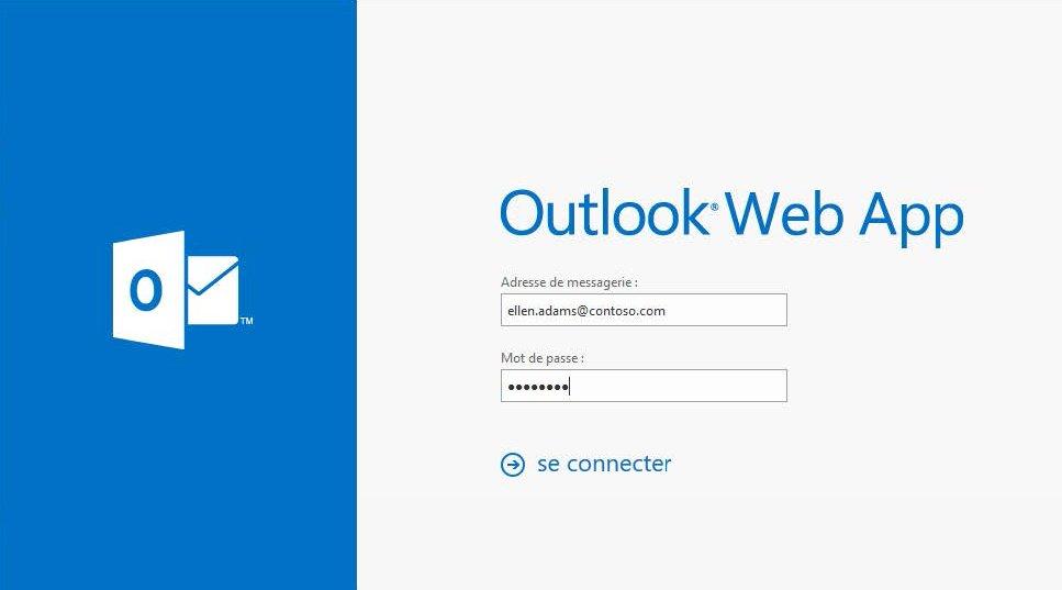 Accéder à votre compte Exchange à partir d'Outlook web access
