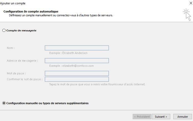 Configurer un compte exchange imap