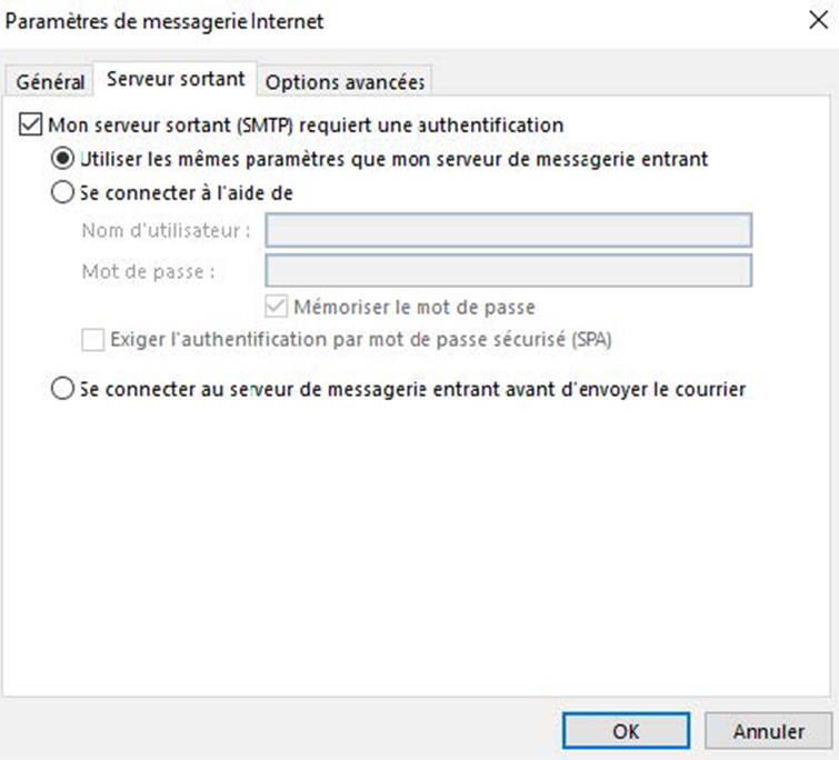 Configuration compte Exchange IMAP 3