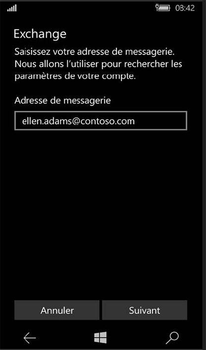 Configuration compte Exchange sur Windows Phone 5