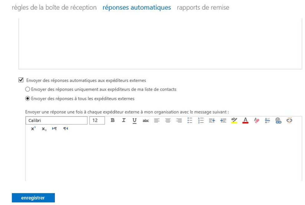 Définir un message d'absence à partir d'Outlook Web Access 3